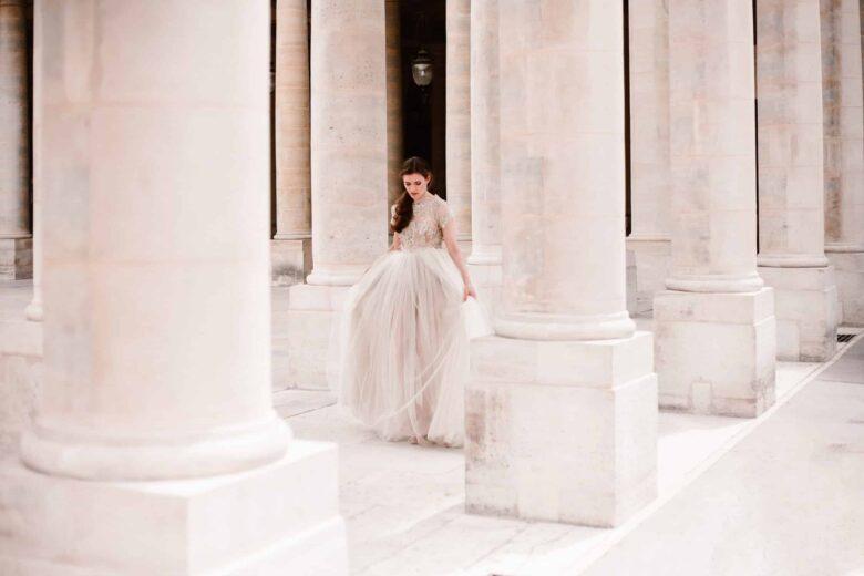 séance trash the dress au palis royal