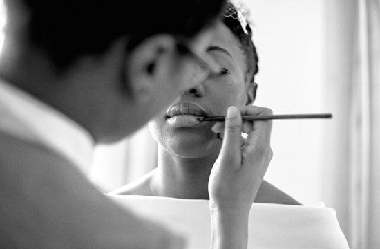 maquillage lors des préparatifs de mariage